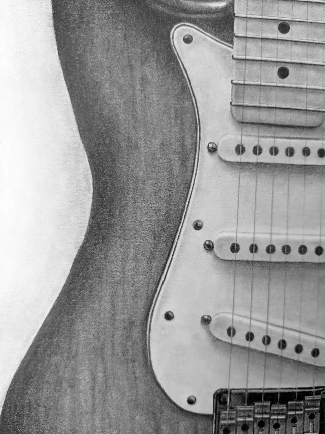 Stratocaster Drawing closep