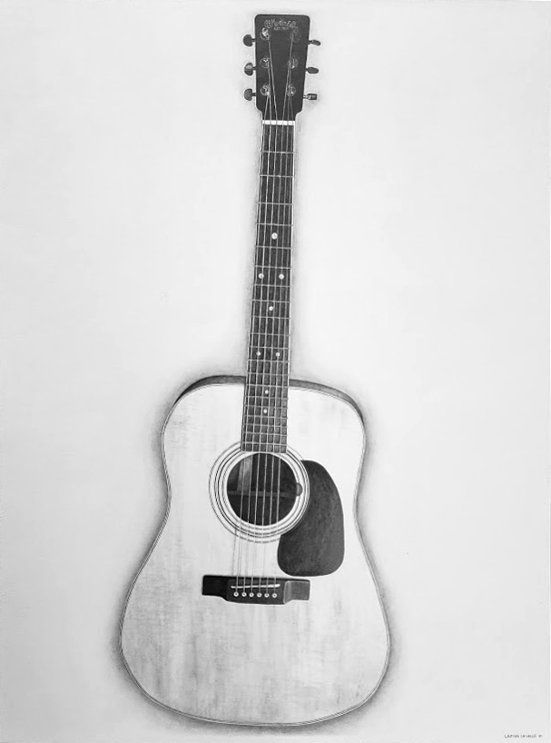 Drawing of Martin Acoustic Guitar